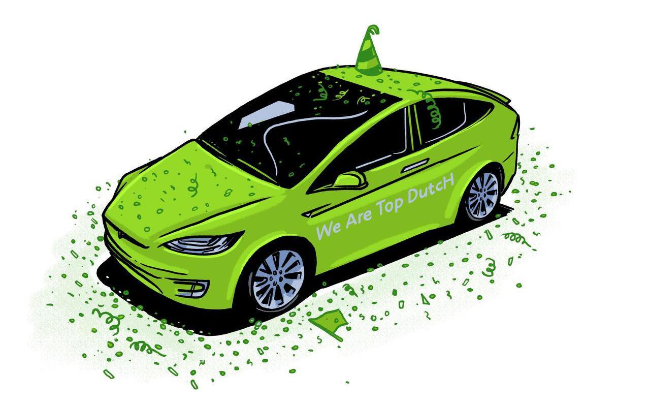 De TopDutch-campagne werd oorspronkelijk opgezet om Tesla naar Noord-Nederland te halen. Tesla koos voor Berlijn als Europese fabriekslocatie.  ILLUSTRATIE JOB VAN DER MOLEN
