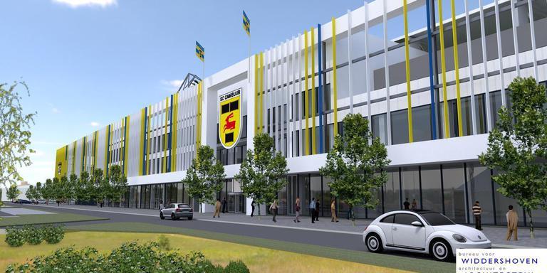 Een indruk van het nieuwe stadion van Cambuur.