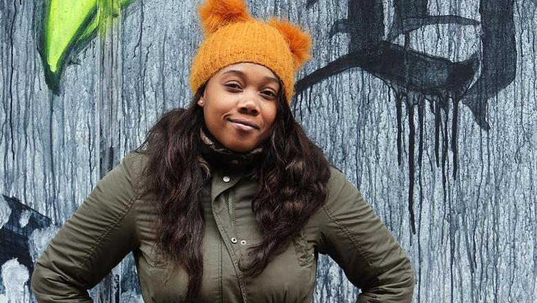 Fabiola Kook, een 21-jarige studente sociaal werk aan de Friese Poort, maakt zich boos over hoe de gemeente Leeuwarden omgaat met de problemen binnen de Antilliaanse gemeenschap. FOTO NIELS WESTRA