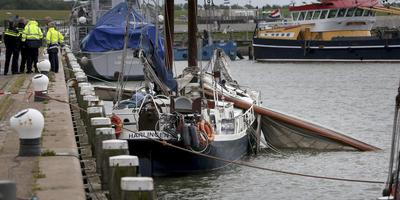 Bij het ongeval aan boord van de Amicitia kwamen drie Duitse passagiers om het leven. FOTO ANP