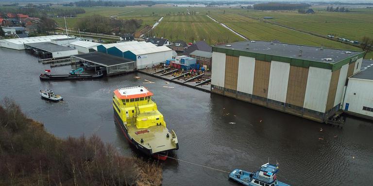 De Merwestroom ging in maart als eerste te water in Warten. Foto LC/Arodi Buitenwerf