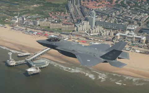F-35 alsnog over Texel en Vlieland