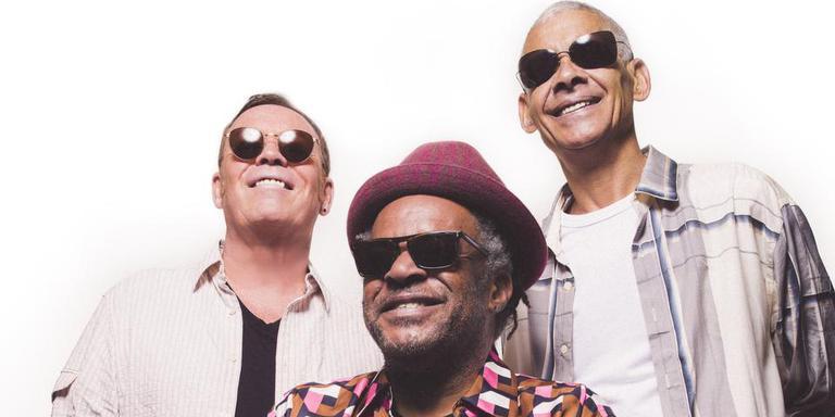 UB40 (vlnr): Ali Campbell, Astro en Micky Virtue.