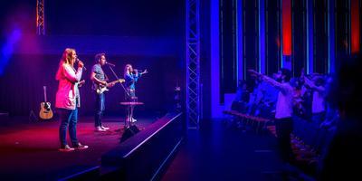 Muziek speelt een belangrijke rol in de diensten in de City Life Church (voorheen Salvator) in Leeuwarden. FOTO JILMER POSTMA