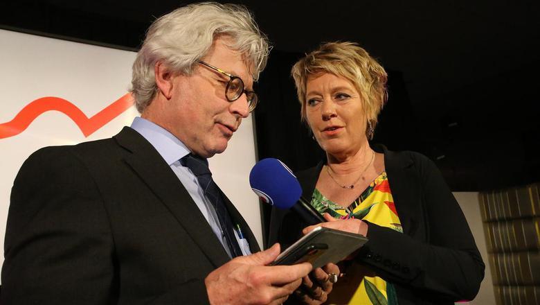 Ferd Crone, hier tijdens de verkiezingsavond, is net als Joop Atsma en Tineke Huizinga vrijwel zeker van een plek in de senaat. FOTO NIELS WESTRA
