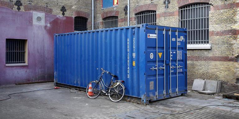In de Blokhuispoort in Leeuwarden ligt het werk aan de verbouwing al een maand stil. FOTO NIELS WESTRA