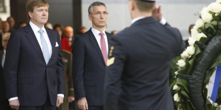 Koning spreekt waardering uit voor NAVO