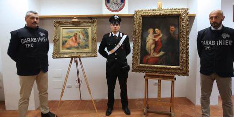 Politie vindt gestolen Rubens en Renoir terug