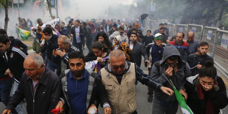 Rellen bij 1 meivierig Istanbul