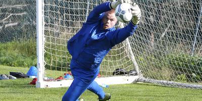 Leonard Nienhuis vorige week tijdens een training in Portugal. FOTO HENK JAN DIJKS