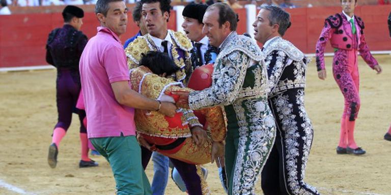 Spaanse torero door stier gedood