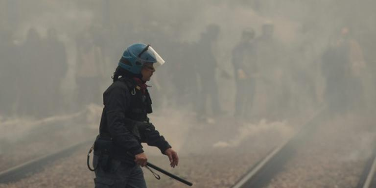 Politie slaags met betogers bij Brennerpas