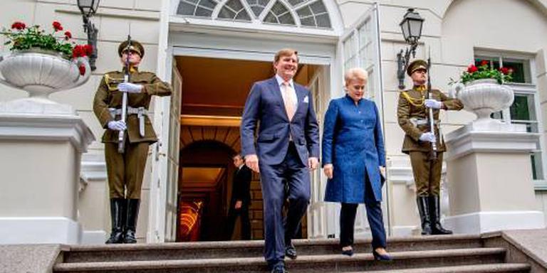 Koning onderstreept solidariteit met Litouwen