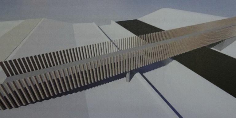 Het ontwerp voor het nieuwe bruggetje.