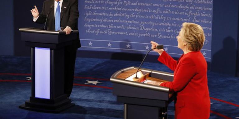 Debat Clinton-Trump trekt 81 miljoen kijkers