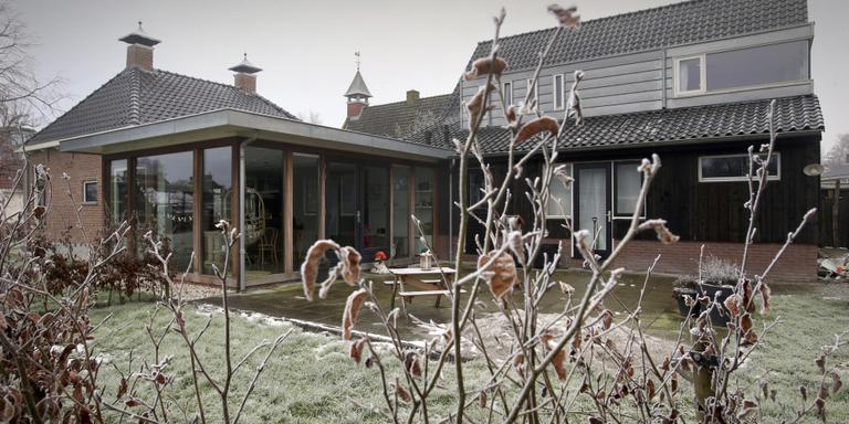 Tuin van familie De Vries. FOTO NIELS WESTRA