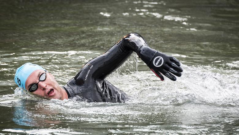 Maarten van der Weijden in actie. FOTO ANP