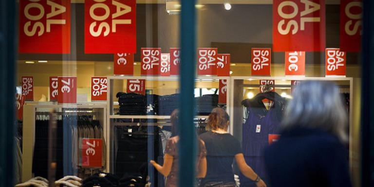 Winkelverkopen in eurozone nemen af