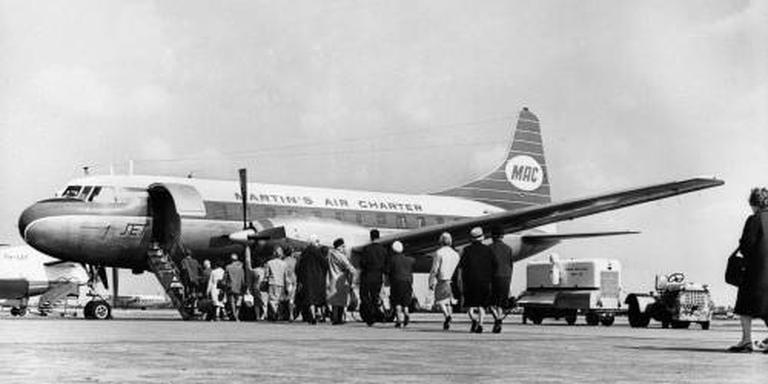 Gecrashte Convair 340 iconisch toestel