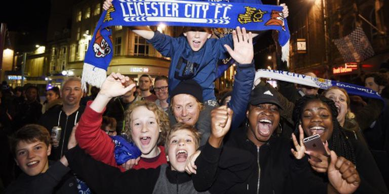 Spelers Leicester vieren titel in huis Vardy