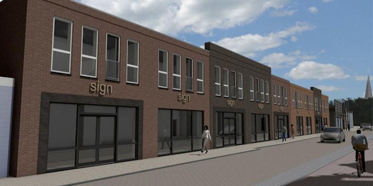 Nieuwbouw op plek Bacchus Heerenveen