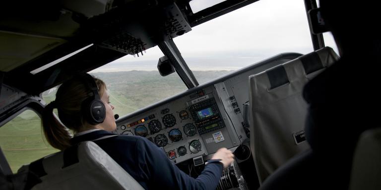 Het vliegtuigje van Ameland naar Borkum was te vaak leeg of slecht bezet. FOTO LC/ASING WALTHAUS.