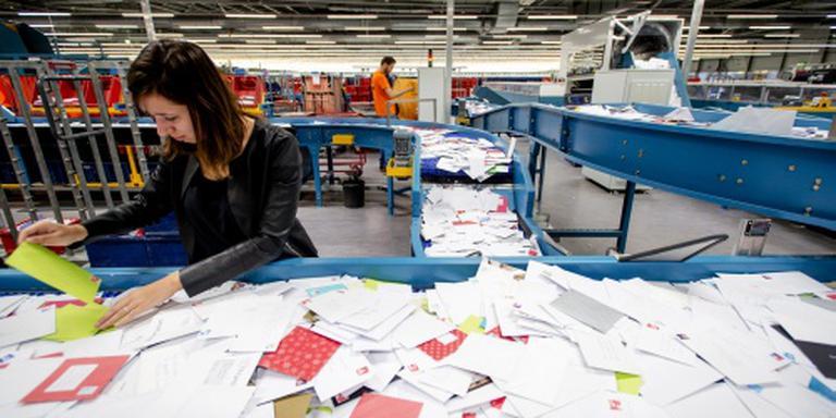 Hoeveelheid verstuurde post blijft teruglopen