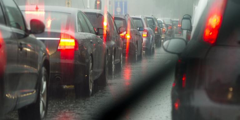 'Zware ochtendspits door overdadige regenval'