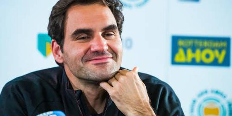 Federer in actie in Rotterdam