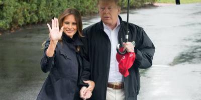 Trump in Florida om schade orkaan te zien