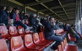 Publiek tijdens de fieldlab-wedstrijd van Almere City.