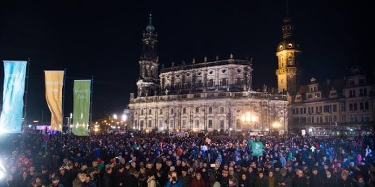 Dresden bewaart de vrede op 'Pegida-avond'
