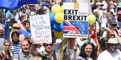 Grote brexitbetoging zaterdag in Londen