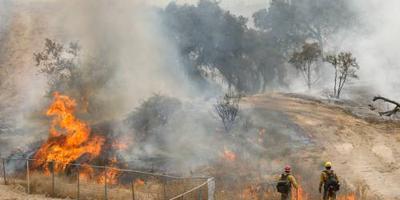 Californië in het donker om brandgevaar