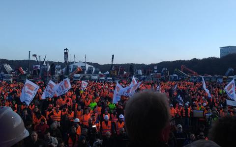 Bouwersprotest op Malieveld: 'Wij willen graag aan het werk'