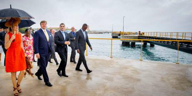Koning onthult naam nieuwe megapier Curaçao
