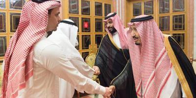 Saudische koning ontvangt familie Khashoggi