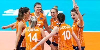 Volleybalsters tegen China om brons op WK