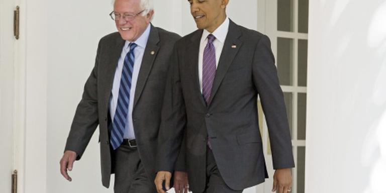 Bernie Sanders bij Barack Obama