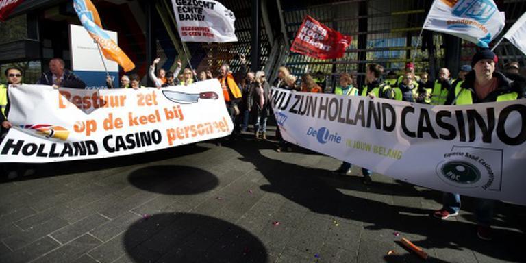 Weer stakingsactie bij Holland Casino