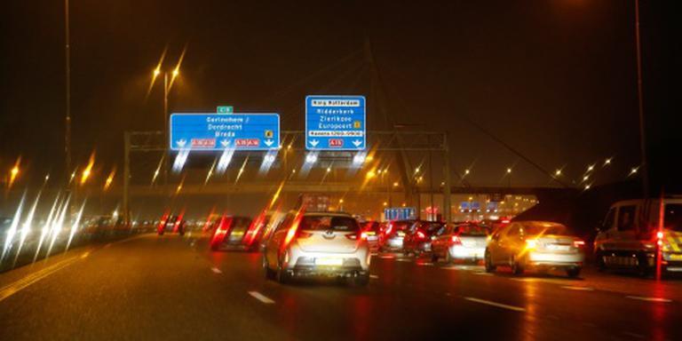 Drukte op de weg door ongelukken