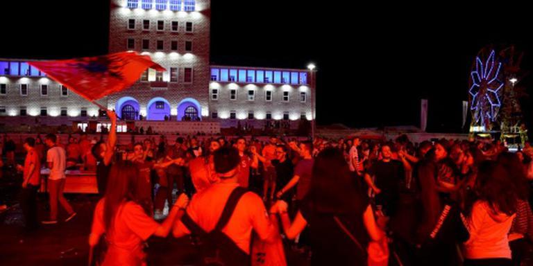 Albanese voetballers als helden onthaald