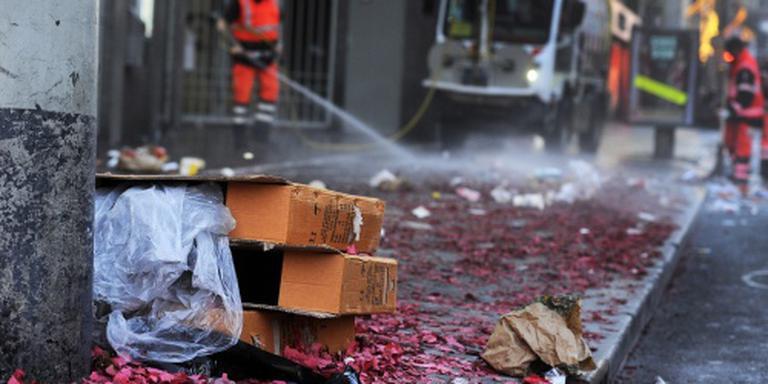Vuurwerkklachten op nieuwjaarsdag over afval