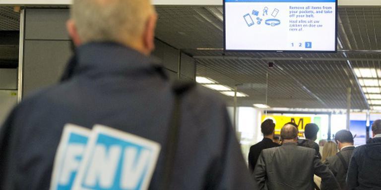 Acties beveiligers Schiphol gaan door