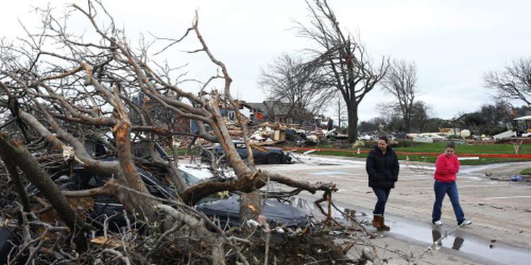 Tornado's trekken over Oklahoma in VS