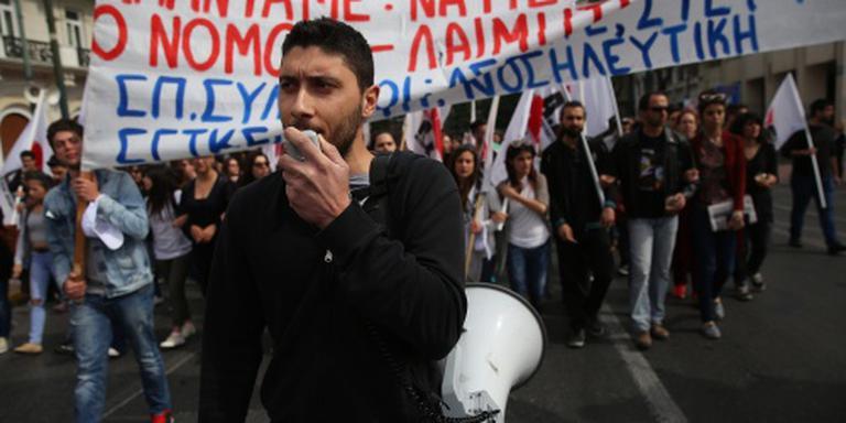 Grieks bezuinigingsprotest uitgemond in rel