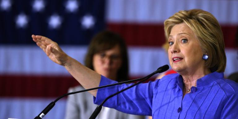Clinton roept zichzelf uit als winnaar