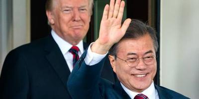 President Zuid-Korea gaat naar Trump
