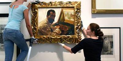 Op het schilderij staat etser Leopold Löwenstam, destijds een goede vriend van Alma Tadema. Het is voor het laatst in 1913 geëxposeerd. FOTO MARCHJE ANDRINGA