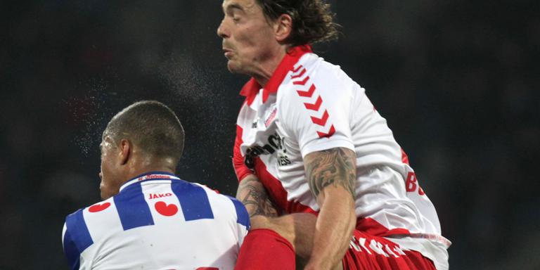 Dave Bulthuis in dienst van FC Utrecht tijdens een play-off-wedstrijd in 2013 tegen Heerenveen, zijn nieuwe club. FOTO LC ARCHIEF/JAN DE VRIES